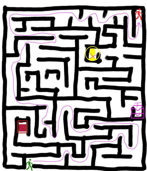 Cyrene Maze Map
