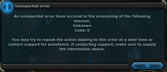 FIX? to : Unexpected Error in mission… Unknown Code: 0