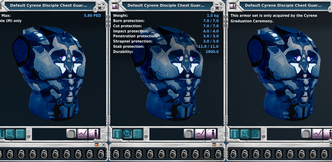 Planet Cyrene's disciple armor
